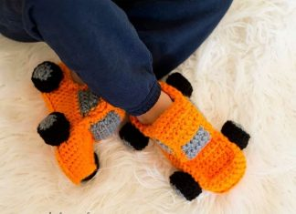 Monster Truck Slippers Crochet Free Pattern