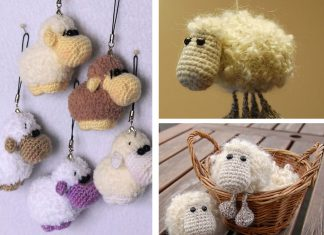 Sheep Keychain Free Crochet Pattern