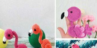 Flamingo Applique Free Crochet Pattern