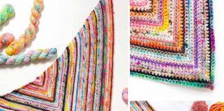 Nobody's Perfect Shawl Free Crochet Pattern