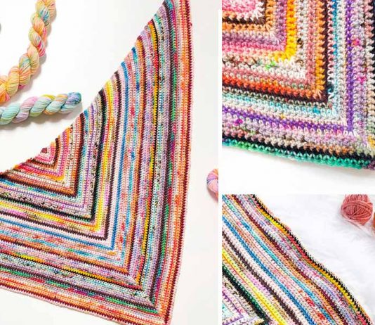 Nobody's Perfect Shawl Free Crochet Pattern