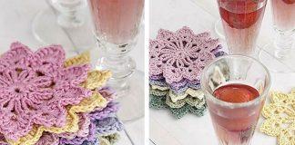 Floral Flower Toast Crochet Free Pattern