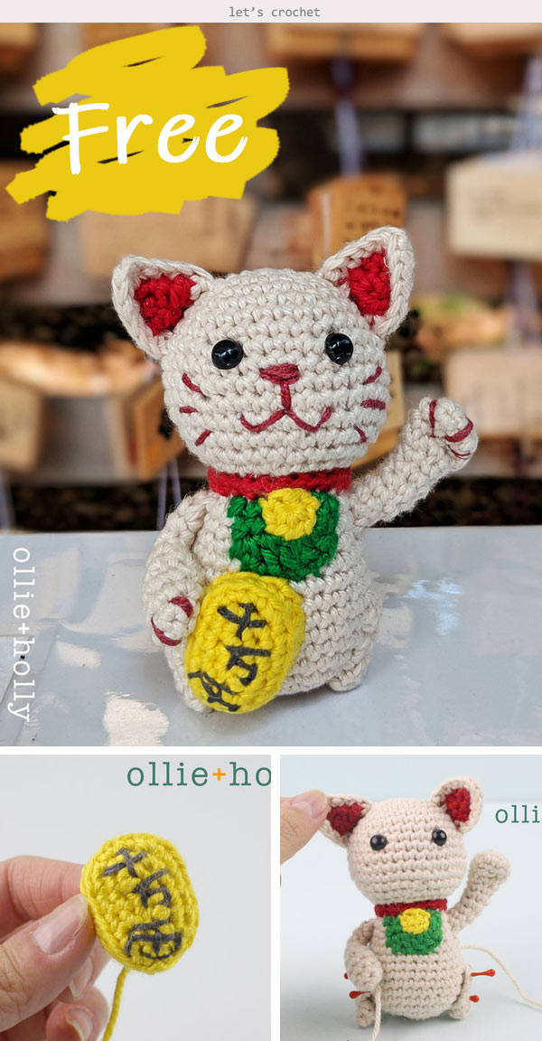 Free Lucky Cat Amigurumi Crochet Pattern