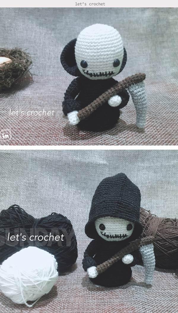 Grim Reaper Amigurumi Crochet Pattern