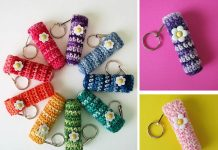 Flower Lip Balm Holder Crochet Free Pattern