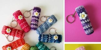 Flower Lip Balm Holder Crochet Free Pattern