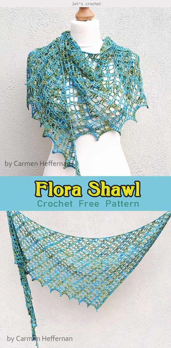 Crochet Flora Shawl Free Pattern
