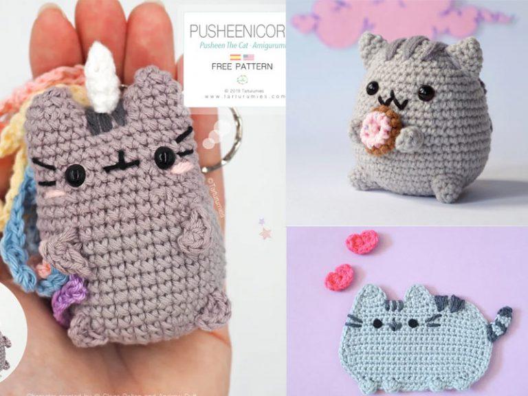 Crochet Pusheen Unicorn Cat Amigurumi Free Pattern