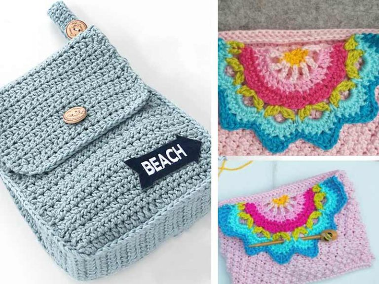 Free Crochet a Touch of Colour Clutch Pattern