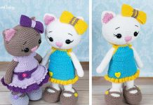 Cat doll in sundress Crochet Free Pattern