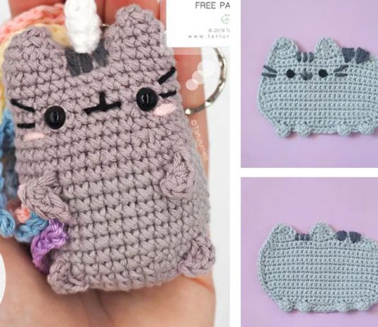 Crochet Pusheen Unicorn Cat Amigurumi Free Pattern