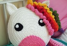 Crochet Animal Pillow for kids Free Pattern