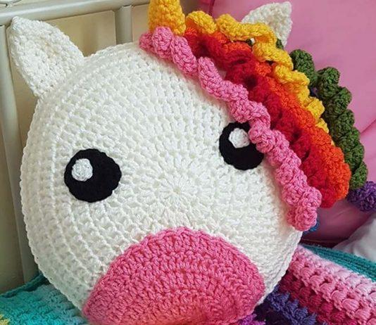 Crochet Animal Pillow for kids Free Pattern