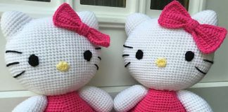 Big Hello Kitty Crochet Free Pattern