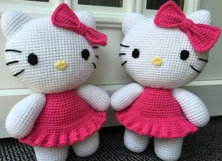 Big Hello Kitty Crochet Free Pattern