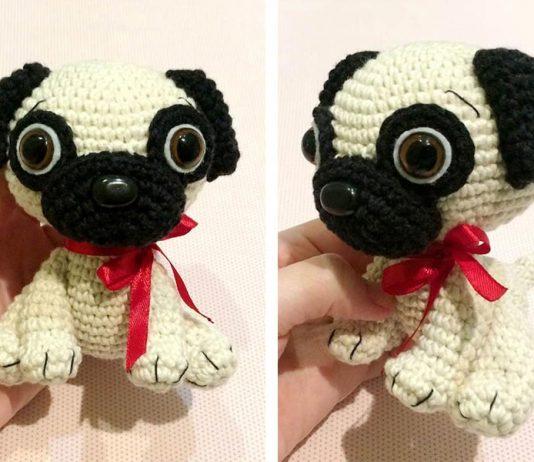 Baby Pug Dog Amigurumi Free Crochet Pattern