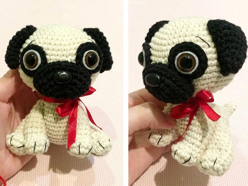 Ravelry: Pug Dog pattern by StringyDingDing | 600x800