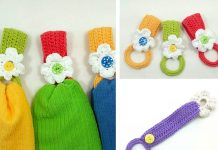 Daisy Towel Holder Crochet Free Pattern