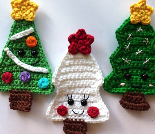 Easy Christmas Trees Crochet Free Pattern