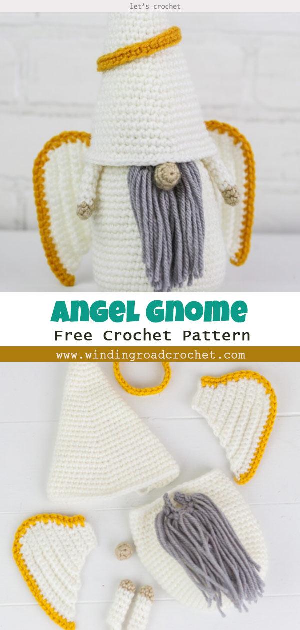 Crochet Christmas Angel Gnome Free Pattern