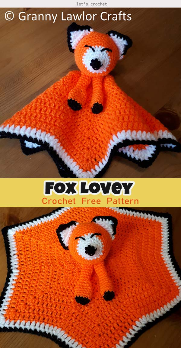 Fox Lovey Crochet Free Pattern