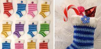 Mini Christmas Stocking Crochet Free Pattern