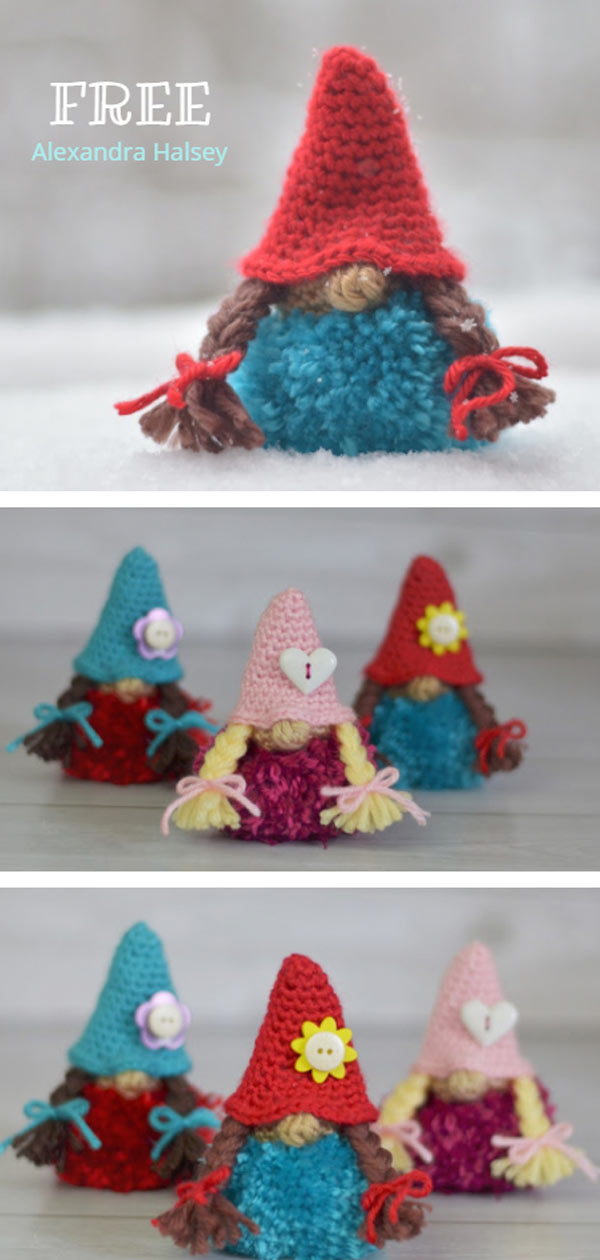 Tunisian Puffball Gnome Free Pattern