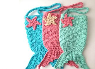 Mermaid Tail Purse Crochet Free Pattern