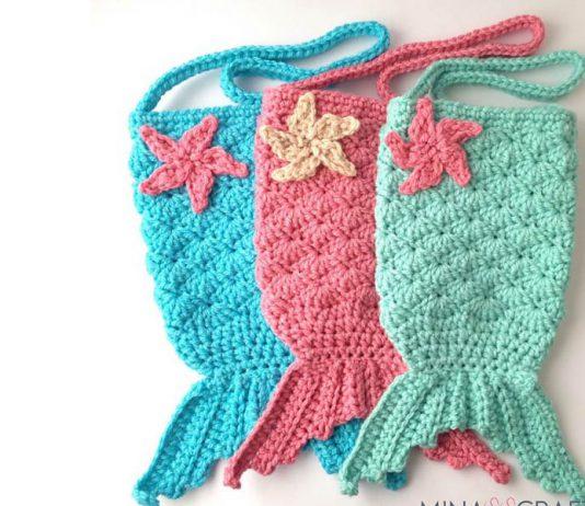 Mermaid Tail Purse Crochet Free Pattern
