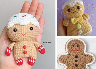 Christmas Gingerbread Man Amigurumi Crochet Free Pattern