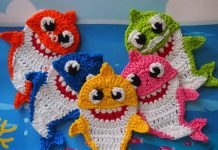 Baby Shark and His Family Free crochet pattern