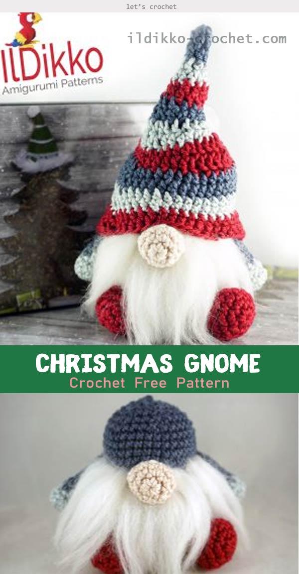 Christmas Gnome Amigurumi Crochet Free Pattern