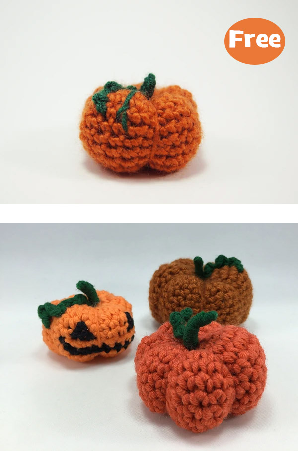 Halloween Pumpkin Toy Crochet Free Pattern