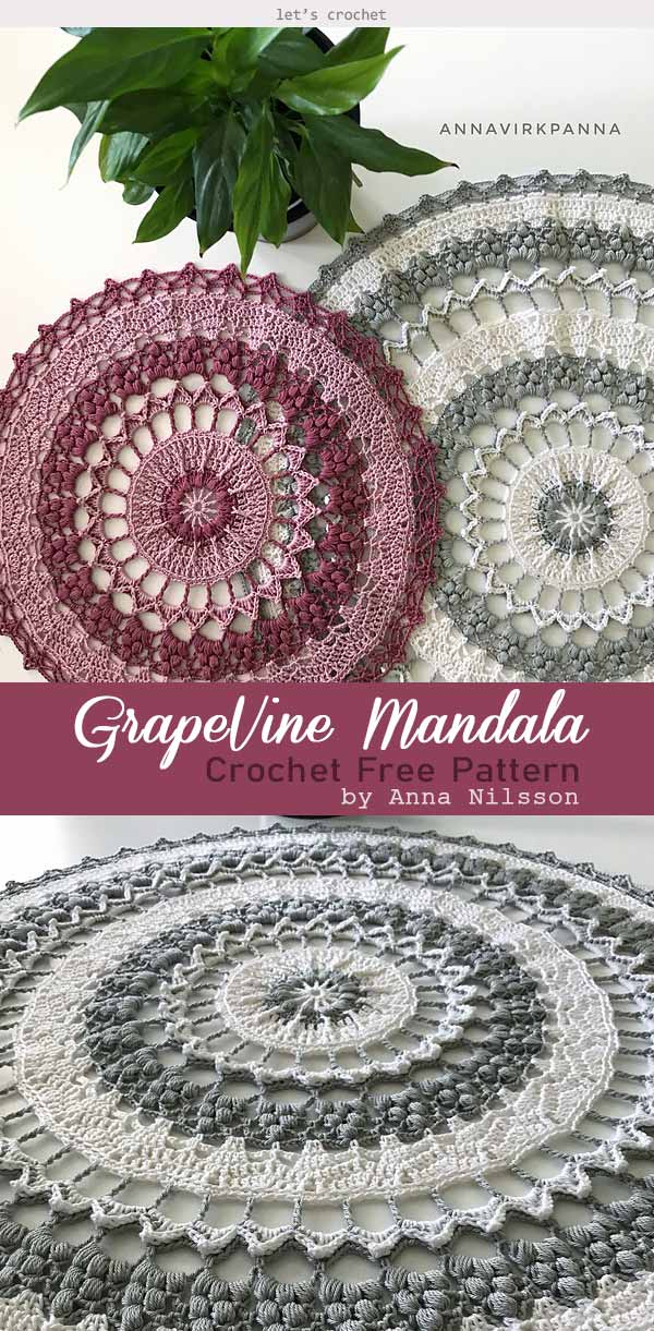 Beauty of Mandala Crochet Free Pattern
