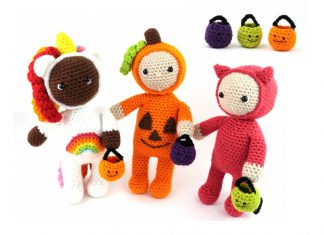 Halloween Costume Kids Dolls Amigurumi Crochet Free Pattern