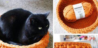 Crochet The Big Little Pet Cat Bed Free Pattern
