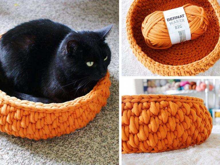 Crochet Pet Cat Bed Free Pattern