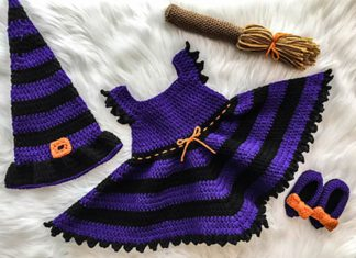Baby Witch Costume Crochet Free Pattern