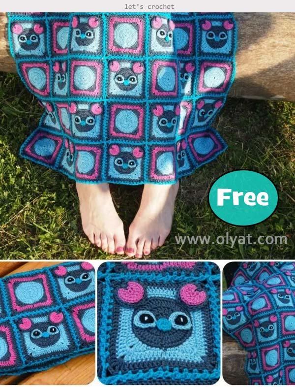 Mickey Blanket Free Crochet Pattern