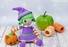 Halloween Witch Amigurumi Crochet Free Pattern
