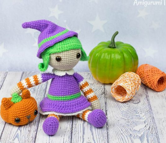 Halloween Witch Amigurumi Crochet Free Pattern