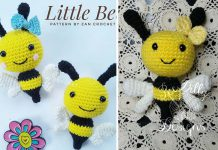 Crochet Little Bee Amigurumi Free Pattern