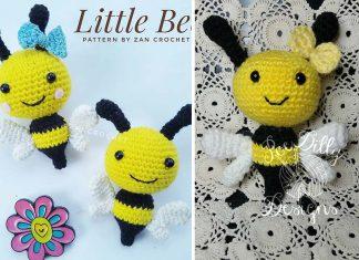 Crochet Little Bee Amigurumi Free Pattern