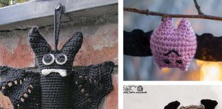 Crochet Halloween Bat Applique Free Pattern