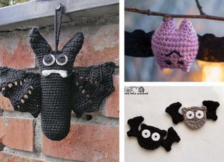 Crochet Halloween Bat Applique Free Pattern