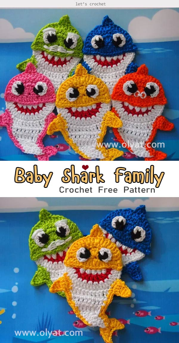 Ravelry: Crochet Shark pattern by Theresa's Crochet Shop | 1152x600