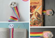 Crochet Cute Rainbow Bookmark Free Pattern
