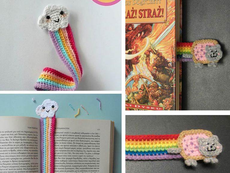 Crochet Cute Rainbow Bookmark Free Pattern