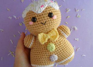 Gingerbread Man Amigurumi Crochet Free Pattern