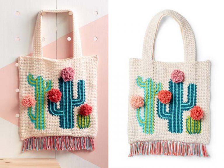 Cactus Tote Bag Crochet Free Pattern